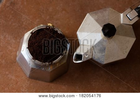 Neapolitan Coffeepot ,top View  Image