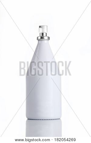 White Perfume Bottle for Mockups on white background