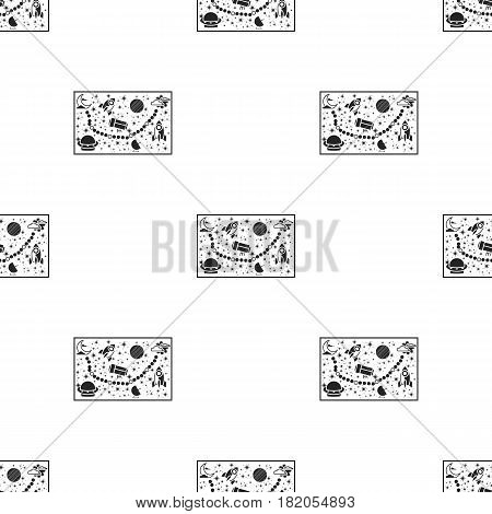 Board game for children icon in black style isolated on white background. Board games pattern vector illustration.