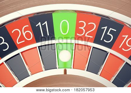 Casino Roulette Las Vegas Gambling Concept playing in a Casino Conceptual 3d rendering
