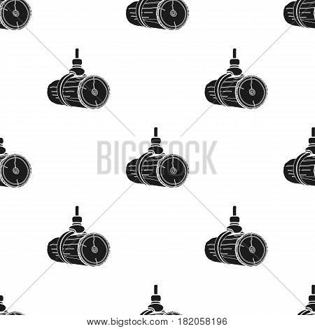 Hydraulic crane icon in black style isolated on white background. Sawmill and timber pattern vector illustration.