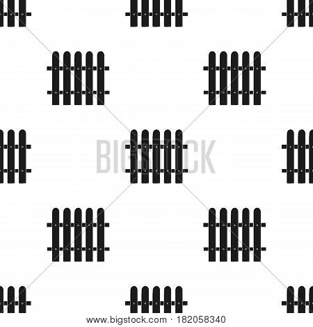 Fence icon in black style isolated on white background. Sawmill and timber pattern vector illustration.