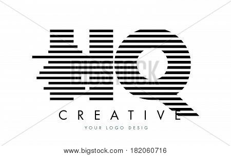 Hr H R Zebra Letter Logo Design With Black And White Stripes