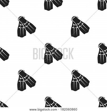 Flippers icon in black style isolated on white background. Sport and fitness pattern vector illustration.
