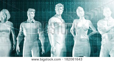 Human Resource Department Hiring Recruiter Select Career Concept 3D Illustration Render