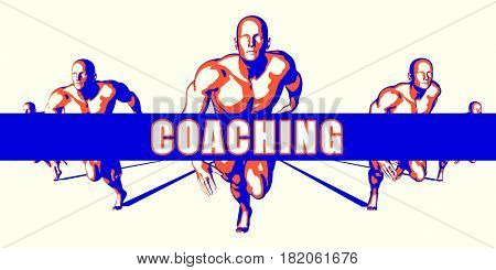Coaching as a Competition Concept Illustration Art 3D Illustration Render