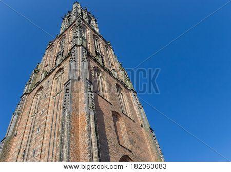 Medieval Church Tower Onze Lieve Vrouwetoren In Amersfoort