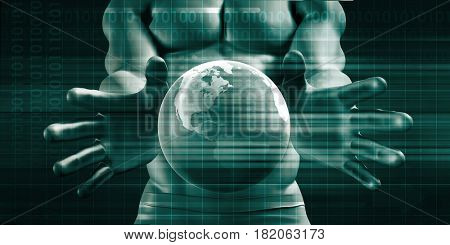 Global Communications and Networks as a Business Concept Background 3D Illustration Render