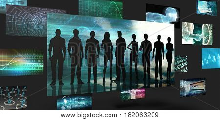 Empowered Training Sales and Marketing Abstract Concept 3D Illustration Render