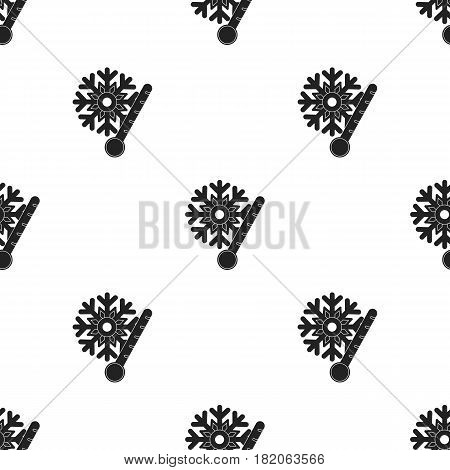 Frost icon in black style isolated on white background. Weather pattern vector illustration.