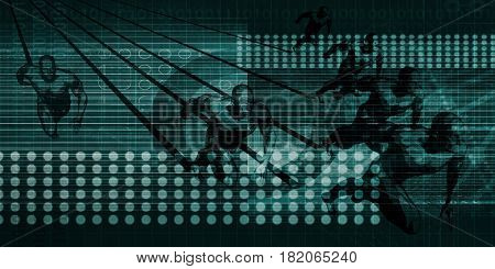 Dynamic Technology and Automated System of the Future 3D Illustration Render