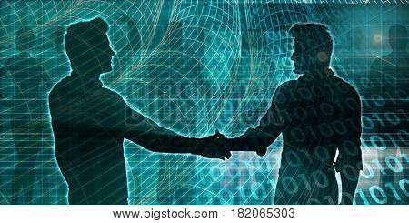 Investment Banking Online as a Bank Service 3D Illustration Render