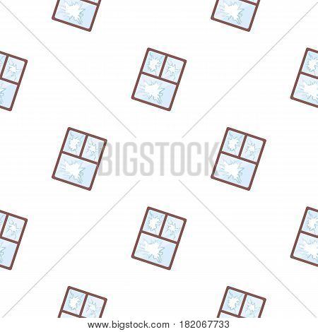 Broken window icon in cartoon style isolated on white background. Trash and garbage pattern vector illustration.