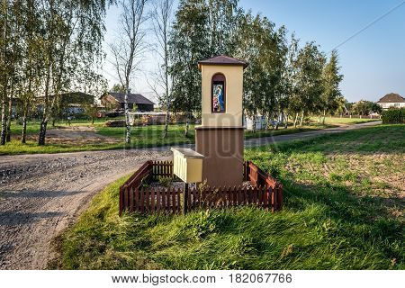 Wayside chapel of village in Pomorskie Region Poland