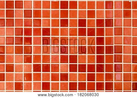 Red Square Tile Background