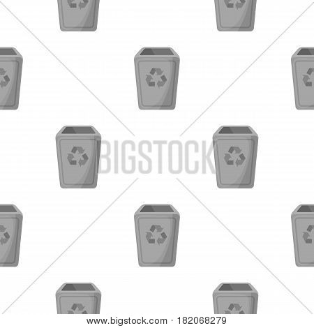 Garbage can icon in cartoon style isolated on white background. Trash and garbage pattern vector illustration.
