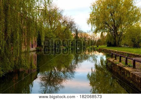 The old Canal at Pocklington in the East Riding of Yorkshire