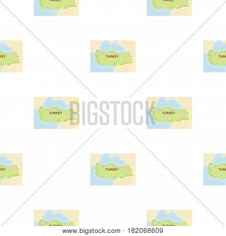 Territory of Turkey icon in cartoon style isolated on white background. Turkey pattern vector illustration.