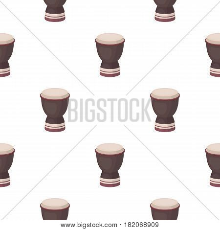 Goblet drum icon in cartoon style isolated on white background. Turkey pattern vector illustration.