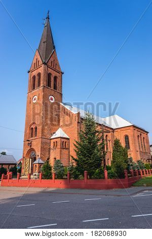Saint Theresa of the Child Jesus Church in Szymabrk town Cassubia region of Poland