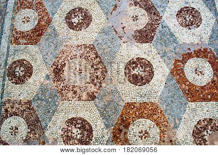 Archaeological treasure Serbia ancient Roman mosaics in the median
