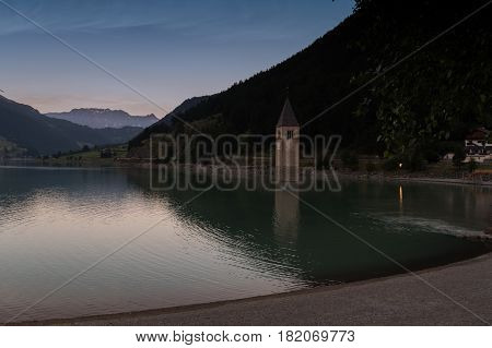 Curon Venosta (lago di Resia) Trentino Alto Adige