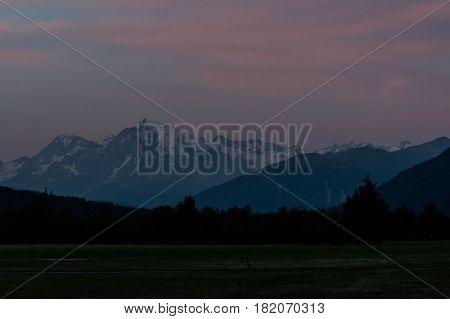Paesaggio montano in Trentino Alto Adige (vista da Curon Venosta)