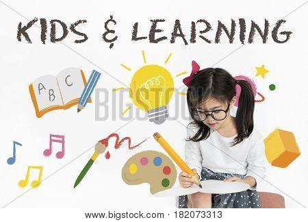 Children Learning Nurture Graphic Icon Symbol