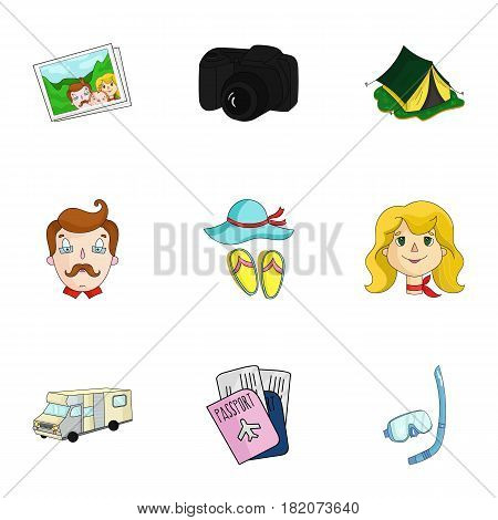 Family, family traditions, recreation. Family life.Family holiday icon in set collection on cartoon style vector symbol stock web illustration.