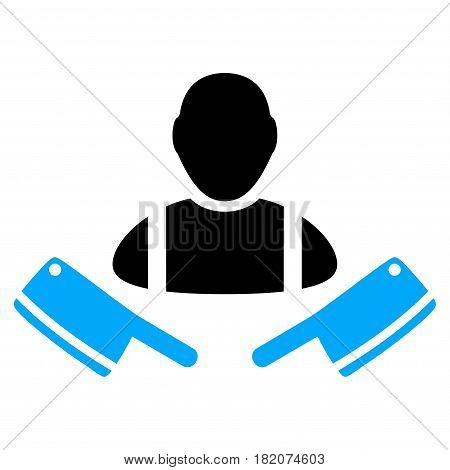 Butcher Man vector illustration. a flat isolated illustration on a white background.