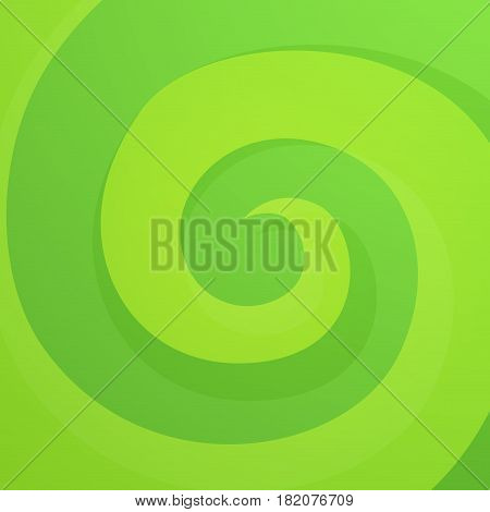 Green Abstract Twirl Background in Bright Vivid Color. Style Dynamic Backdrop.