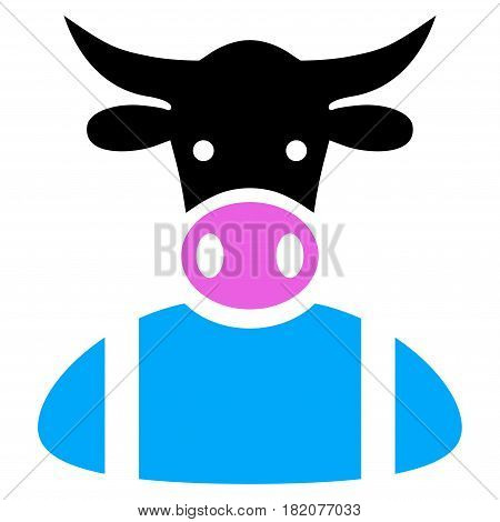 Cow Boy vector illustration. a flat isolated illustration on a white background.