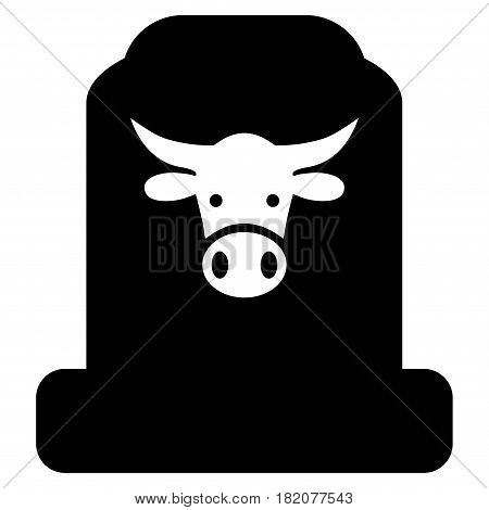 Cow Cemetery vector pictogram. a flat isolated illustration on a white background.