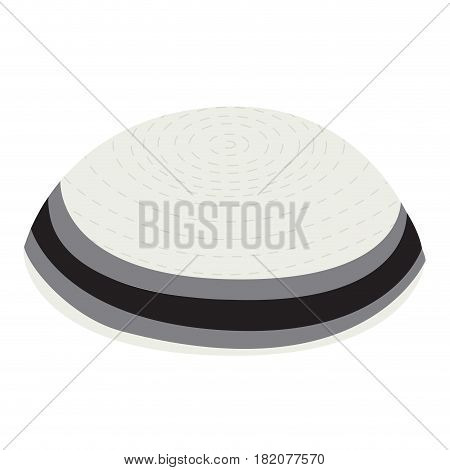 Isolated jewish kippa on a white background, Vector illustration