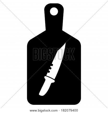 Cutting Board vector pictogram. a flat isolated illustration on a white background.