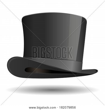 Cylinder hat. Vintage clothing isolated on a white background. Vector illustration.