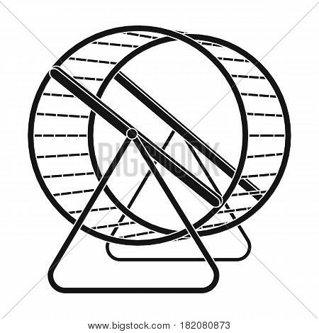 Wheel for rodents.Pet shop single icon in black style vector symbol stock illustration .
