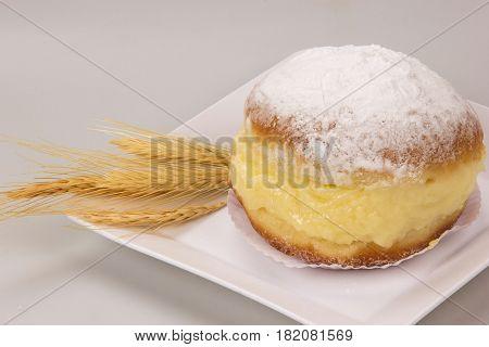 Sonho, Brazilian Bakery Dream. Traditional Brazilian Dessert.