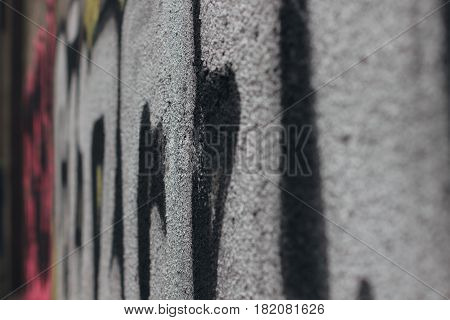 The street graffiti painted by a street artist is bright
