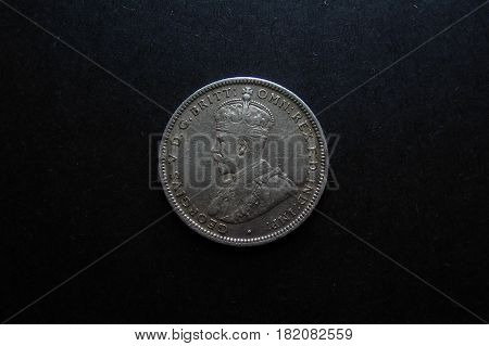 Pre-decimal Vintage Australian silver Sixpence coin photo.