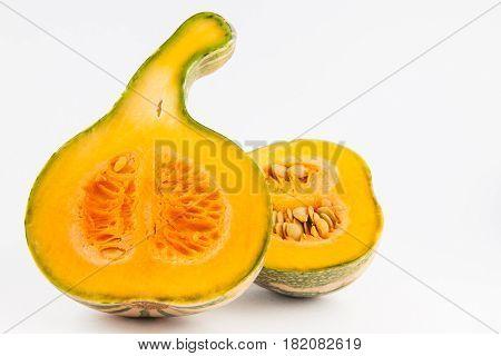Pumpkin (Cucurbita maxima) isolated in white background