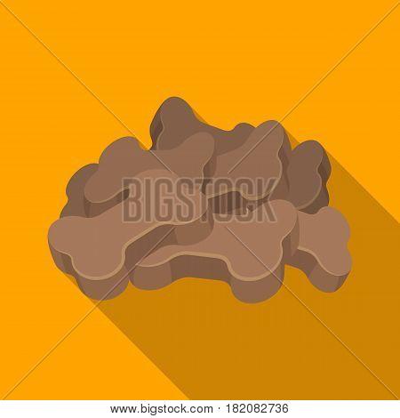 Dry animal food.Pet shop single icon in black style vector symbol stock illustration .