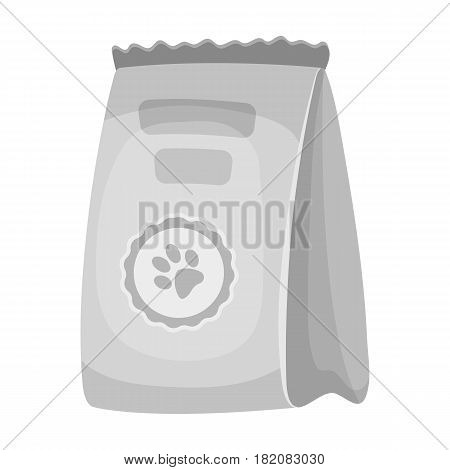 Animal feed package.Pet shop single icon in black style vector symbol stock illustration .