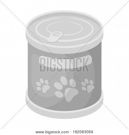 Food for animals.Pet shop single icon in black style vector symbol stock illustration .