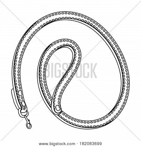 Leash for animals.Pet shop single icon in black style vector symbol stock illustration .