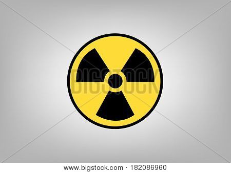 Radiation sign, symbol of danger. Vector image