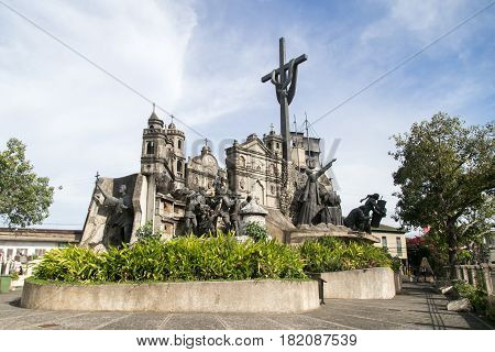 Heritage of Cebu Monument. Its depicts significant moments in Cebu's history.