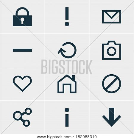 Vector Illustration Of 12 Member Icons. Editable Pack Of Alert, Letter, Publish And Other Elements.