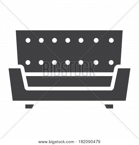 Sofa solid icon, Furniture and interior element, couch vector graphics, a filled pattern on a white background, eps 10.