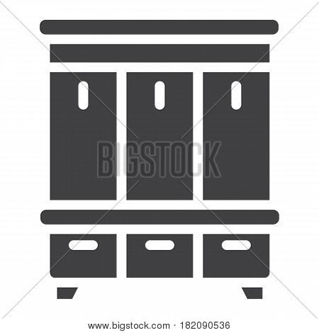 Hallway closet solid icon, Furniture and interior element, halltree vector graphics, a filled pattern on a white background, eps 10.